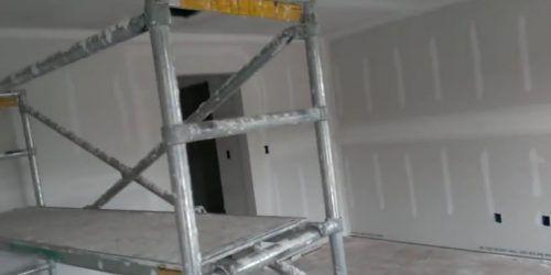 Placas de yeso laminado, conocido como pintura